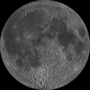 Photo of detail of moon