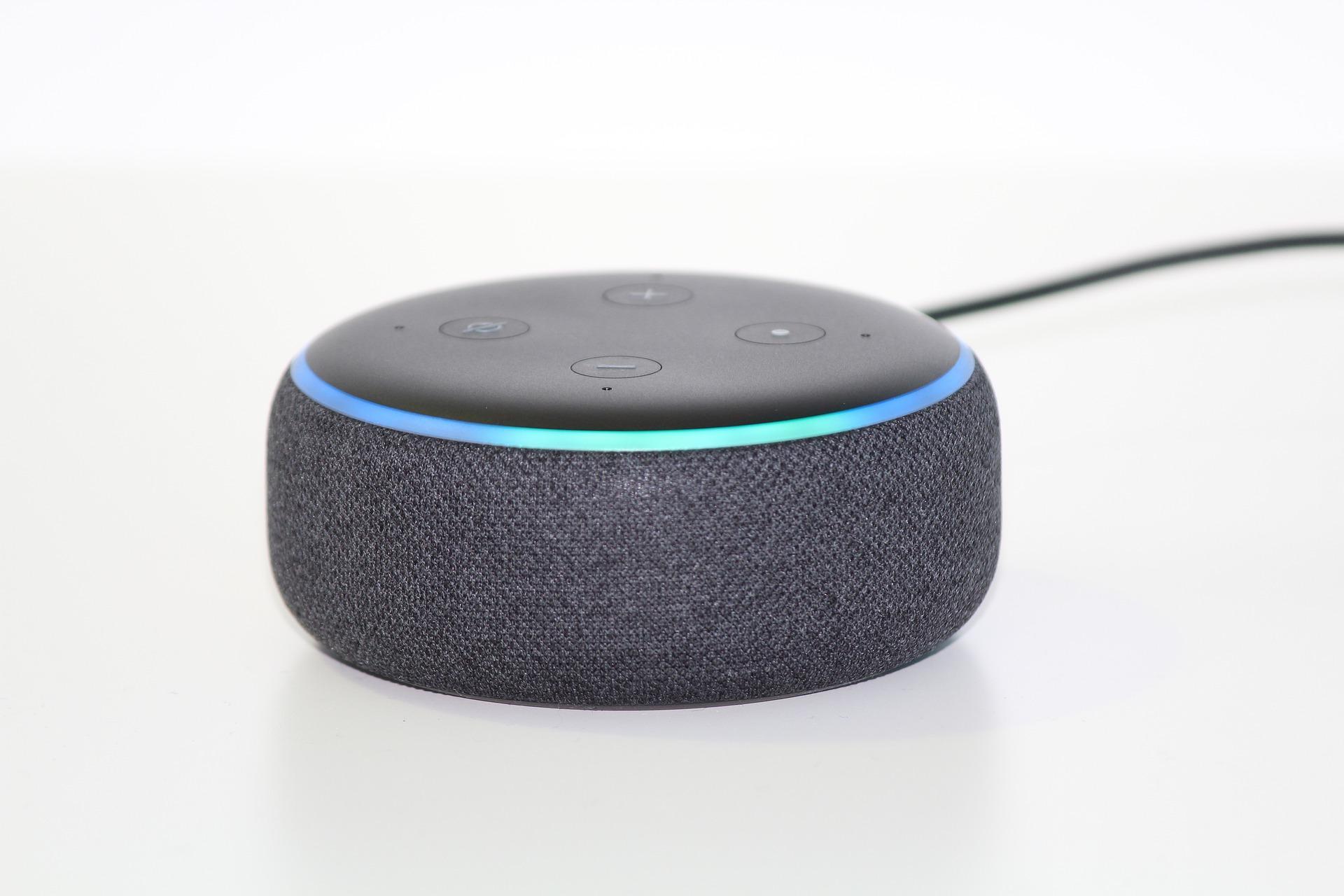 Photo of an Amazon Alexa Dot