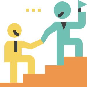 Graphic denoting leadership